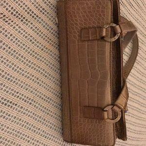 Vintage Tommy Hilfiger faux alligator skin purse